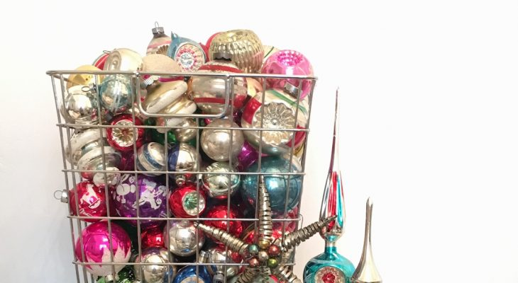 vintage christmas ornaments are something that i collect all year long anytime that a cute vintage ornament catches my eye and is reasonably priced
